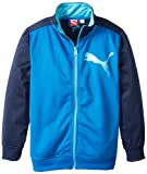PUMA - Kids Boys 8-20 Colorblocked Tricot Jacket, Liquid Blue, Medium