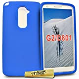 Accessory Master- Blue Silicone Gel Cover Case for Lg Optimus G2 D802
