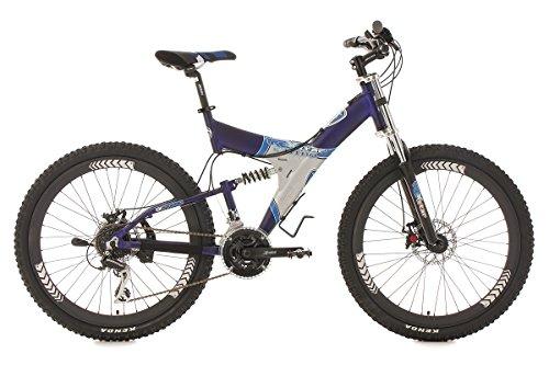 KS Cycling Fahrrad Mountainbike MTB 26 Zoll Fully G-Titan, Blau, 26, 709M