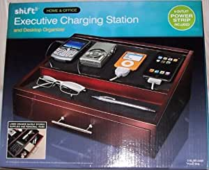 Executive Charging Station and Desktop Organizer