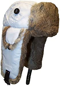 Mad Bomber Original Mad Bomber Hat with Real Fur, White with Brown Fur, XX-Large