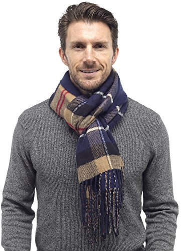 tom-franks-mens-reversible-checked-scarf-with-tassels-blue