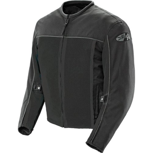 Joe Rocket Velocity Men's Textile Street Racing Motorcycle Jacket - Black/Black / X-Large