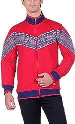 UCC Men's Fleece Regular Fit Sweatshirts (UCC7024RED-L)