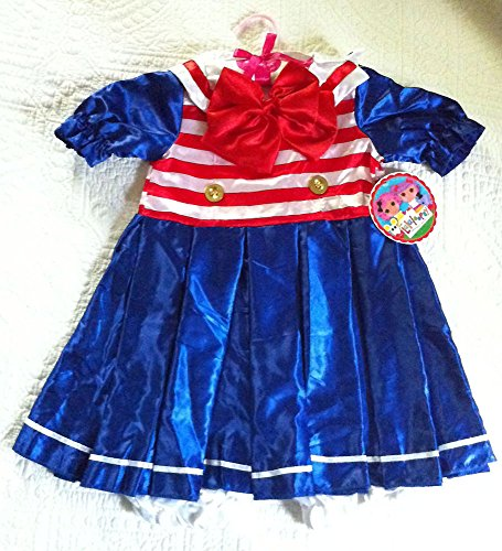 Lalaloopsy Anchors Away Patriotic Girls' Dress Costume Size 4-6x New