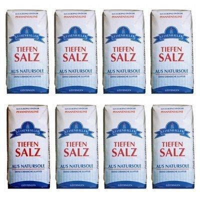 Luisenhaller Tiefensalz, aus Natursole, 8 x 500g von Saline Luisenhaller auf Gewürze Shop