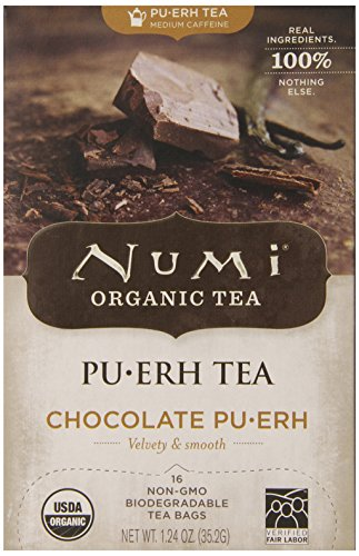 Numi Chocolate Pu-Erh Tea, 16 Count (Pack of 6) (Numi Chocolate Puerh compare prices)