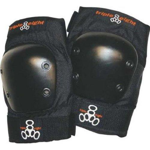 Triple 8 EP 55 Elbow Pads - Skate Safety Pads - Black- JR (XS) winnwell gx 4 jr shoulder pads