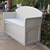 Suncast PB6700 Ultimate 50 Gallon Resin Patio Storage Bench