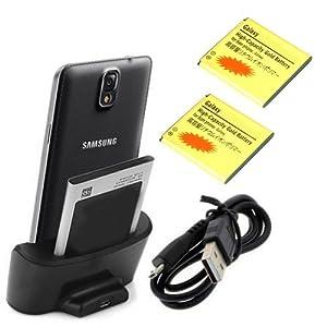 Negro Cargador Base Dock docking station + 2X 3200 mah batería Para Samsung Galaxy note 3 N9000 N9005 - Electrónica - Revisión del cliente y más noticias