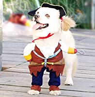 Idepet(TM) New Funny Pet Clothes Caribbean Pirate Dog Cat Costume Suit Corsair Dressing up Party Apparel Clothing for Dogs Cat Plus Hat