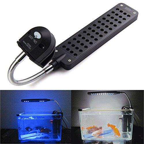 Vakind 3.5W 48Led Touch Sensor Aquarium Clip Light Lamp For Coral Reef Aquatic Animals (Uk)