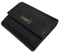Kate Spade Newbury Lane Petty Black Saffiano Leather Clutch Wallet WLRU2190