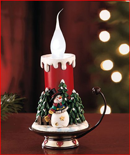 Abc Holiday Snowman Led Candle