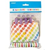 Unique Rainbow Party Blowouts (8 Count), Multicolor thumbnail
