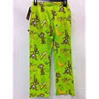 Flow Society Lacrosse Cotton Lounge Pants Monkey Banana Lime Youth Small