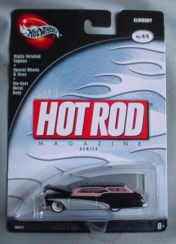 Hot Wheels Hot Rod Magazine 100% Elwoody 4/4 BLACK
