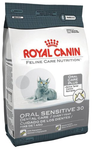 Royal Canin Dry Cat Food, Oral Sensitive 30 Formula, 6-Pound Bag