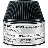 Staedtler 487 15-9 Flacon de recharge à encre non-permanente Lumocolor pour stylos 311, 312, 315 et 316 Capacité 15-20 recharges (Noir)