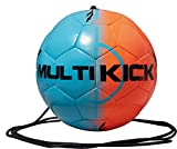 Derbystar Fußball Multikick Mini, Blau/Orange, Umfang 47 cm, 4222000760