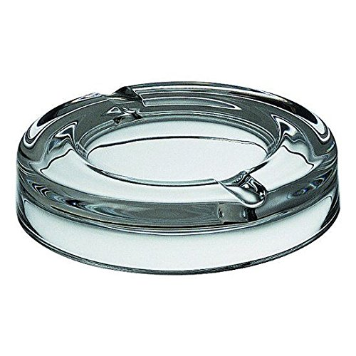 Ego E60208 Round Glass Tabletop Ashtray (Clear)
