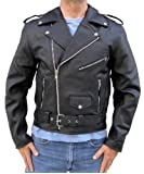 Leather Supreme Men's Classic Genuine Cowhide Leather Motorcycle Jacket