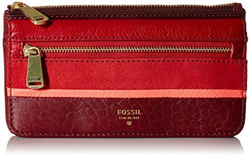Preston Flap Wallet - Crimson Wallet, One Size (Fossil Preston Leather Flap compare prices)