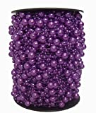 Krismile® 200 Feet Roll Fishing Line Artificial Pearls Beads Chain Garland Flowers Wedding Party Decoration Products Supply (Purple)