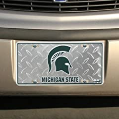 Buy (6x12) Michigan State Spartans Diamond Cut NCAA Tin License Plate by Poster Revolution