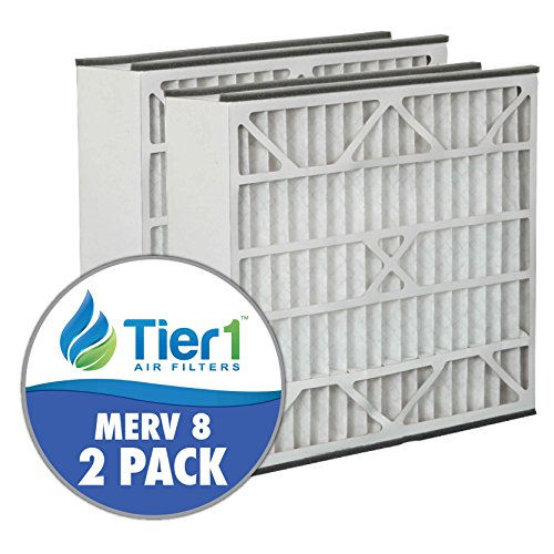Skuttle 20x25x5 Merv 8 Replacement AC Furnace Air Filter (2 Pack)