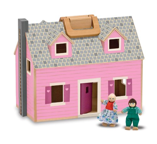 Melissa & Doug Fold and Go Mini Dollhouse