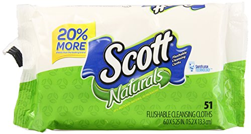 Scott Natural Moist Wipe Refill, 51 ct (Scott Natural Wipes compare prices)