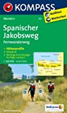 Spanischer Jakobsweg: Fernwanderweg. GPS-genau. 1:100000 (KOMPASS-Wanderkarten)