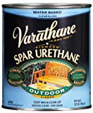 Rust-Oleum Varathane 250041H 1-Quart Classic Clear Water Based Outdoor Spar Urethane, Gloss Finish