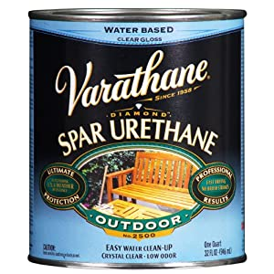 Rust oleum varathane 250041h 1 quart classic clear water - Varathane water based exterior polyurethane ...