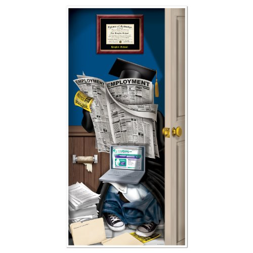 Graduate Restroom Door Cover Party Accessory (1 count) (1/Pkg)