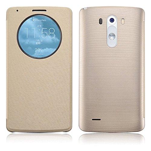 XCSOURCE Quick Circle Flip intelligente cellulari Caso Copertura Custodia protettiva Phone Case Cover Con NFC chip Per Smartphone LG G3 BC431