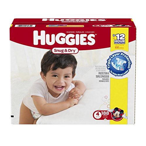 Huggies Snug & Dry Value Box Size 4 - 184 Count