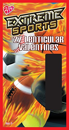 Paper Magic Extreme Sports Valentine Lenticular Exchange Cards (27 Count)