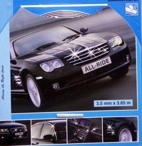 fine bande chrome autocollant collant tuning decoration voiture auto calandre. Black Bedroom Furniture Sets. Home Design Ideas