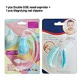 TRAVELMALL-Set de 2 cuidado de beb�-cortaru�as para manicura + aparato para limpiar nariz -alta calidad