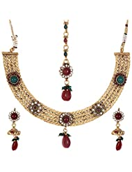 Shahenaz Jewellers 24 Ct Gold Plated Bridal Jewellery Set For Women - B00R2IOG4Y