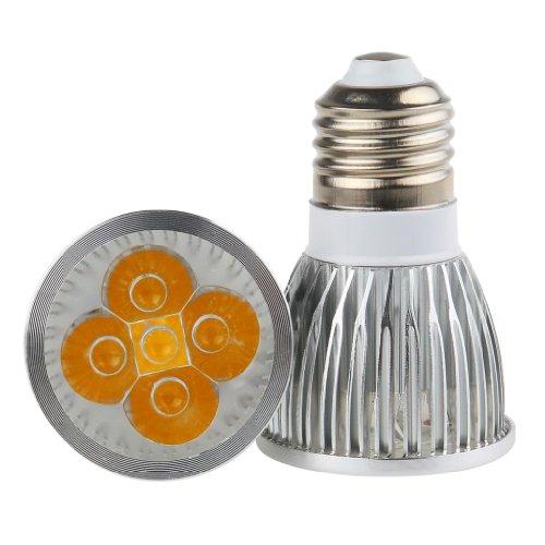 Lemonbest Energy Saving 5W 5X1W E27 Led Spotlight Bulb Dimmable 110V Polished, Warm White