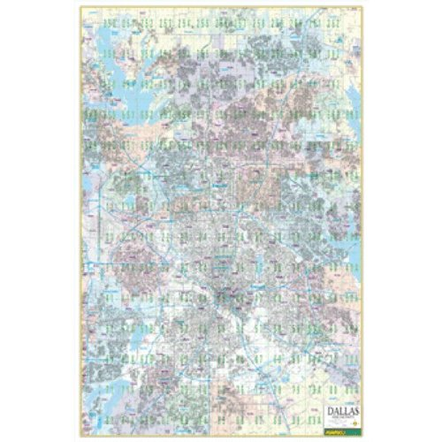 Dallas Wall Map with ZIP Codes (Mapsco Wall Maps, MAP-10210C)