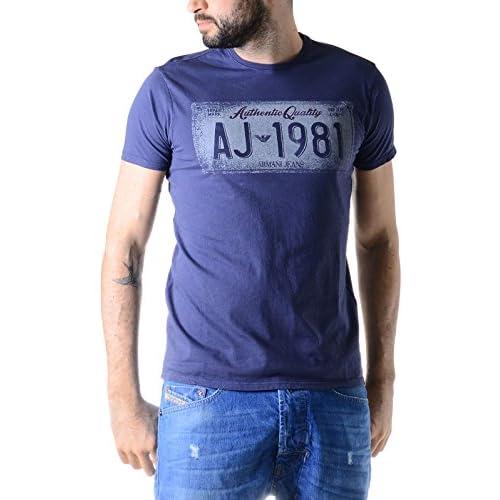 Armani Jeans T-Shirt, Blue Authentic Quality AJ 1981 Regular Fit Tee
