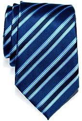 Retreez Preppy Stripe Pattern Woven Microfiber Men's Tie Necktie - 5 Colors