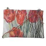 Leaf Designs Red Floral Sling Bag