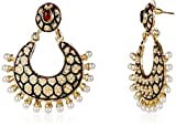 Ava Traditional Earring (Green) (E-SD-AE089)