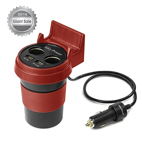 AVLT-Power-Juicy-Power-3.4A-Dual-USB-&-2-Socket-Car-Charger