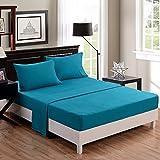 Honeymoon 4PC bed sheet set, Queen sheet,blue sets,super soft /Wrinkle Free / Fade-resistant/, deep pockets, HM00507501Q-BLUE